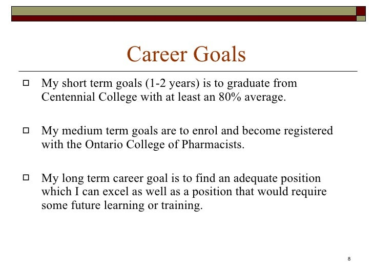 Essay about college and career goals