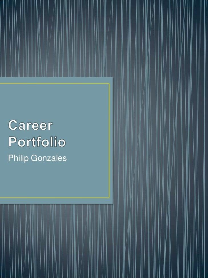 Career portfolio rough draft
