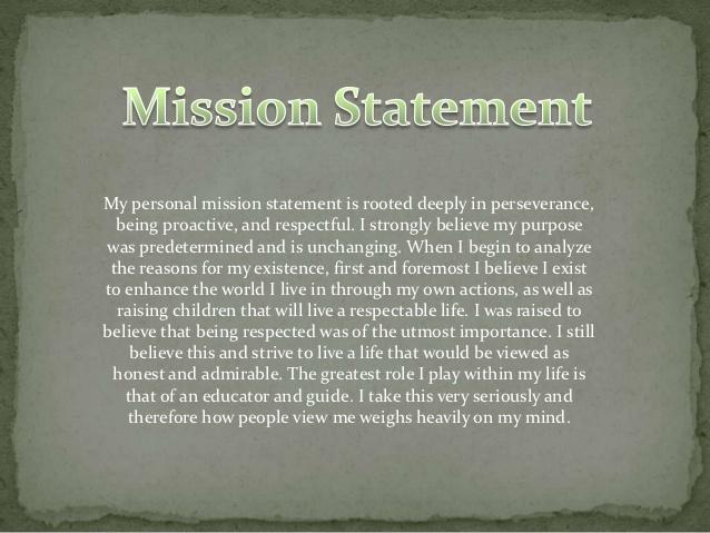 Personal Career Mission Statement Examples Romeondinez