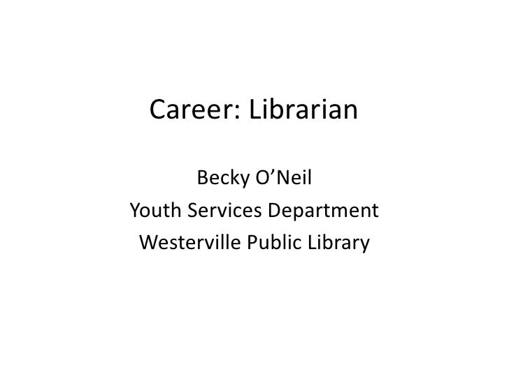 A Career in Libraries