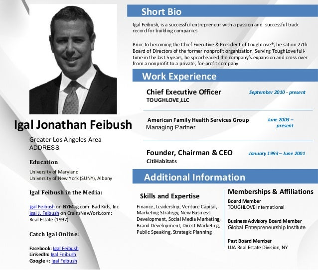 career profile igal jonathan feibush