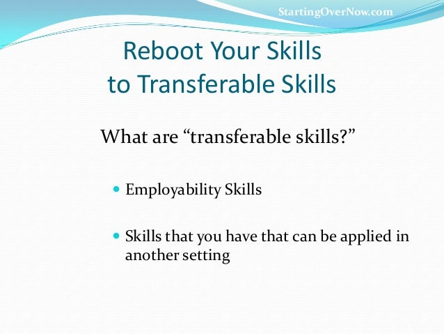 transferable skills are key in cover letter There are plenty of opportunities to land a transferable skills example position but it won't just be handed to you crafting a transferable skills example cover.