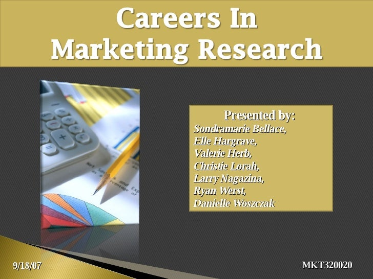Careers in Market Research