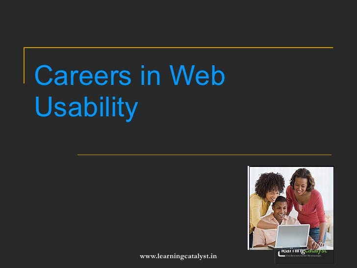 Careers in Web Usability