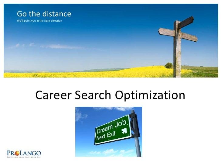 Career Search Optimization