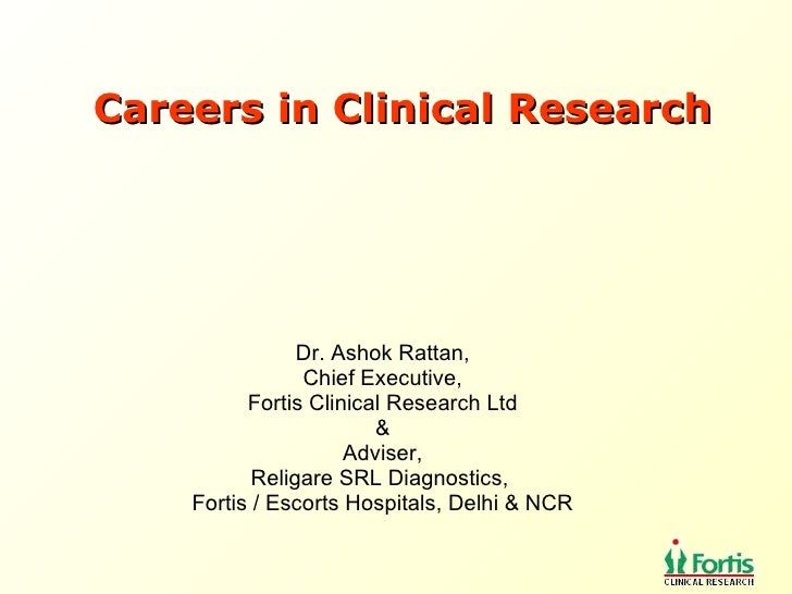 Careers In Clinical Research 2009