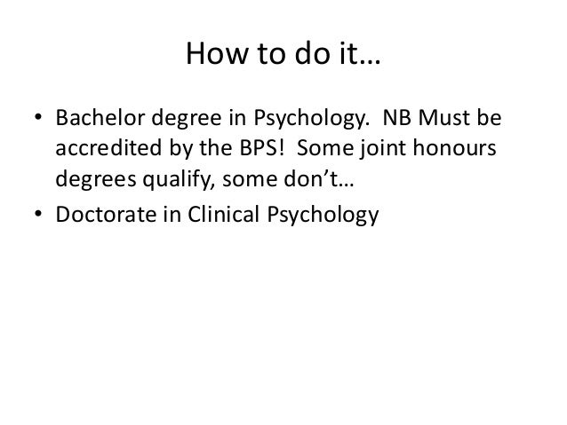 Can you be a Clinical Psychologist with a BA degree?