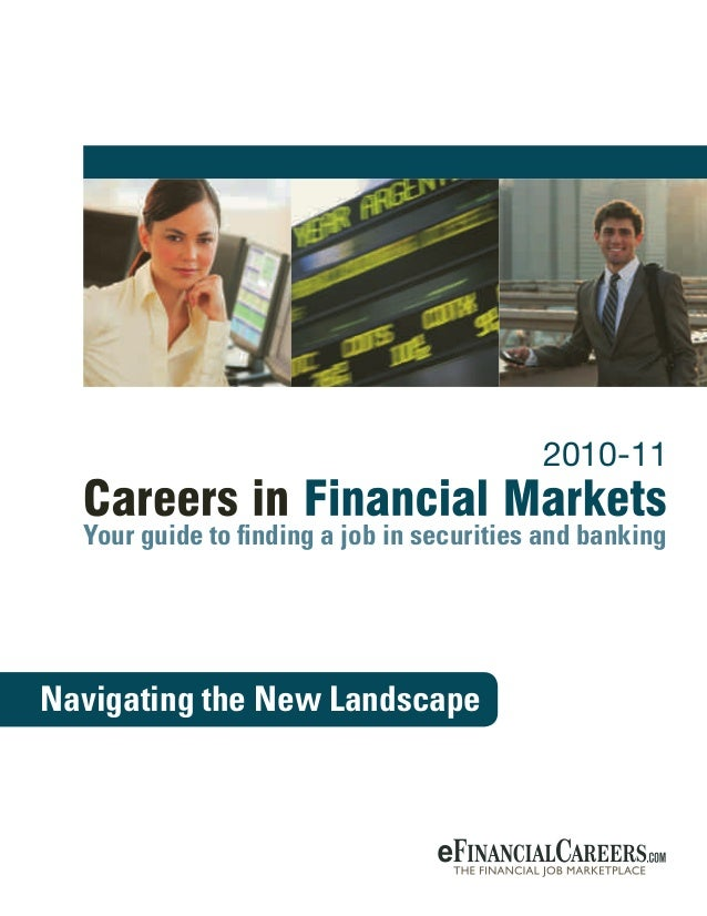 Career Guide in Financial Markets