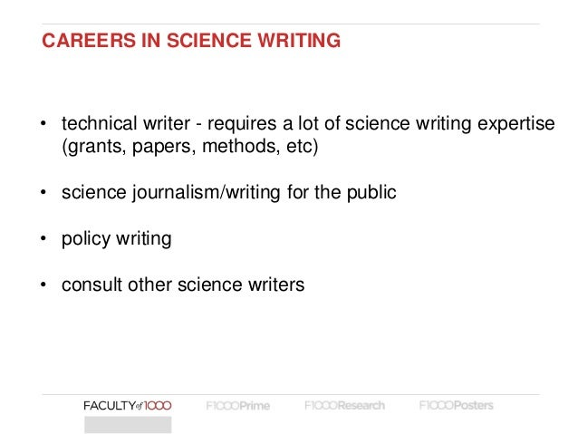 Science writing careers