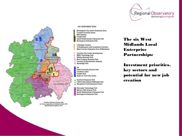The six West Midlands Local Enterprise Partnerships: Investment priorities, key sectors and potential for new job creation