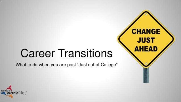 Career transitions webinar