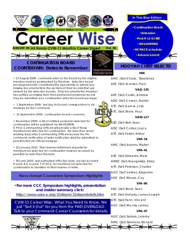Career wise august 2009
