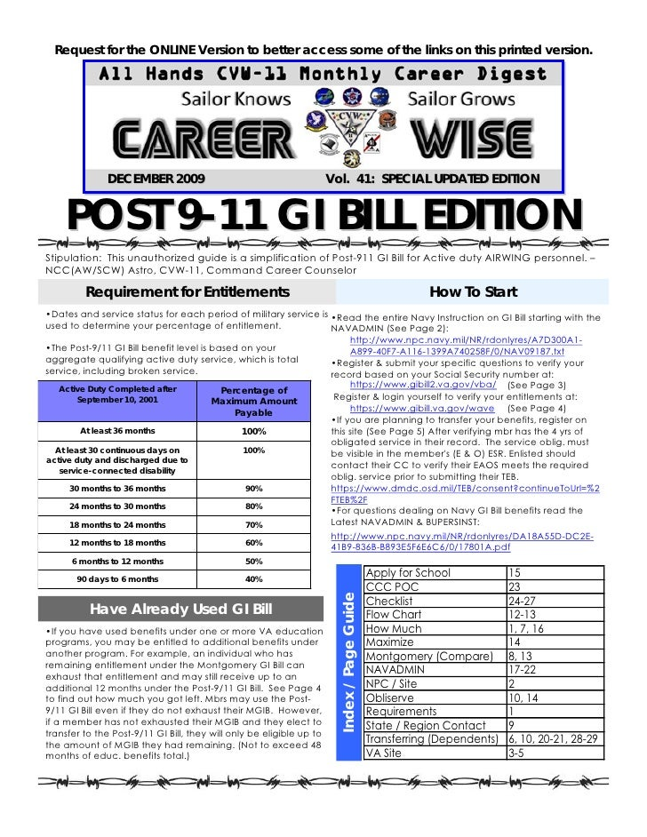 Career Wise Gi Bill Edition Version 2009