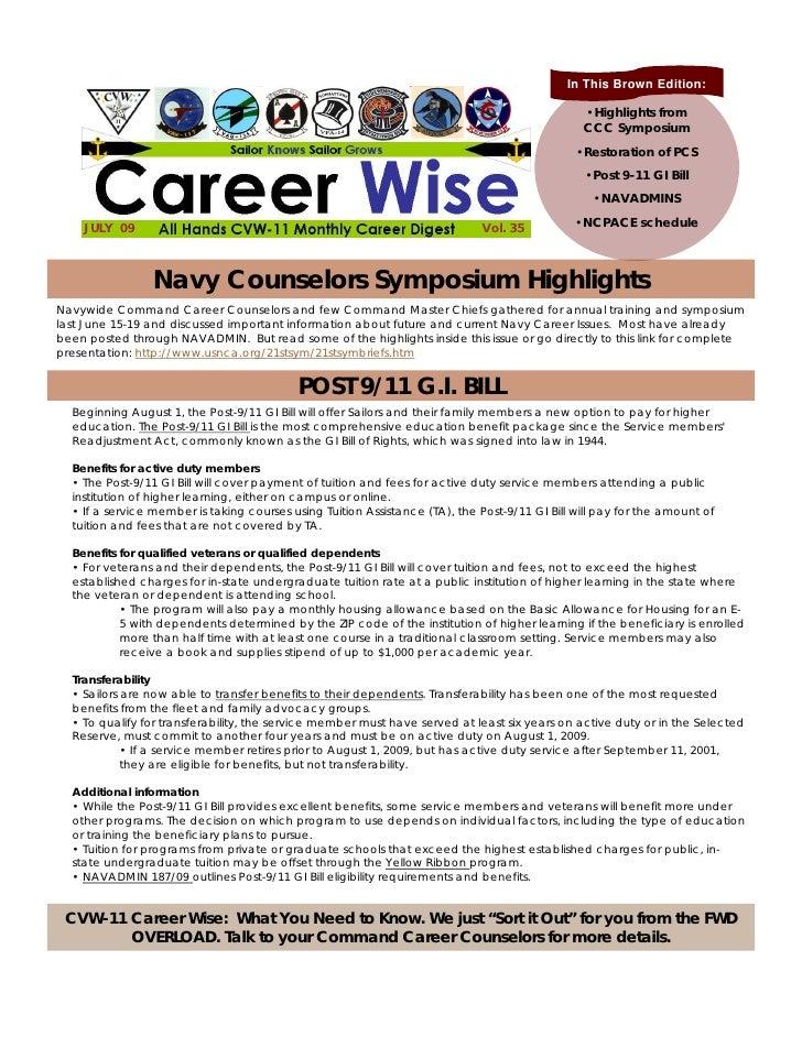Career wise july 2009