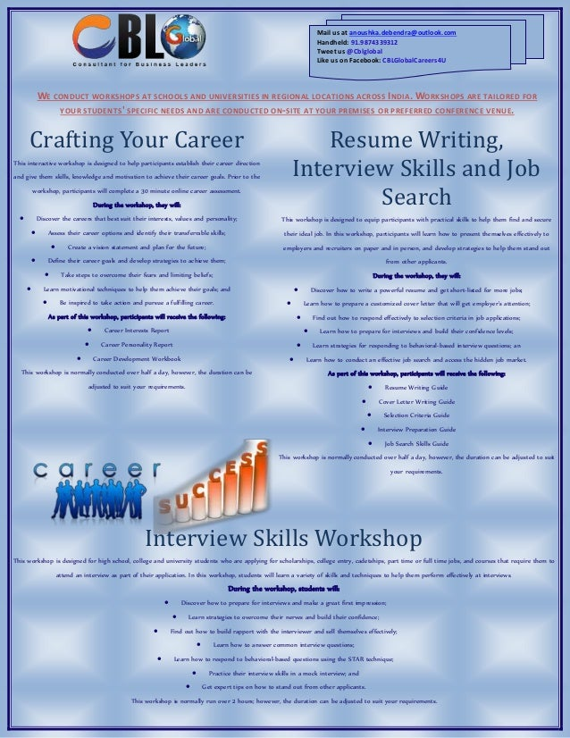 Career Workshop for Students