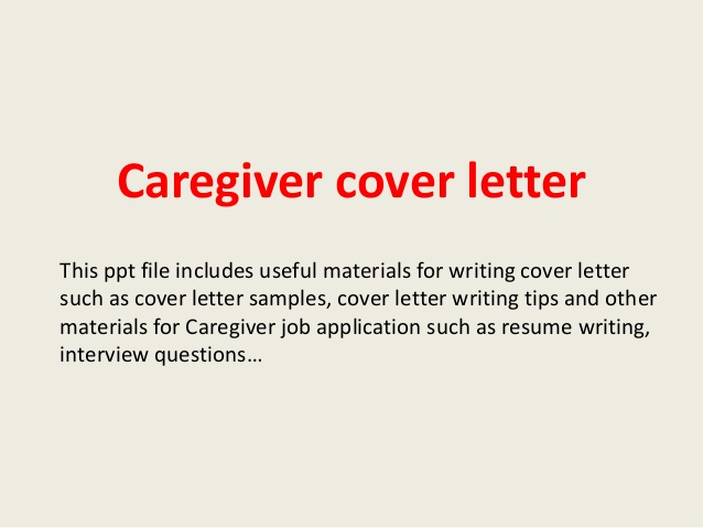 caregiver recommendation letter