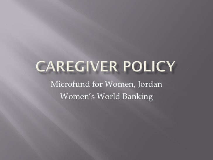 Caregiver policy storybook