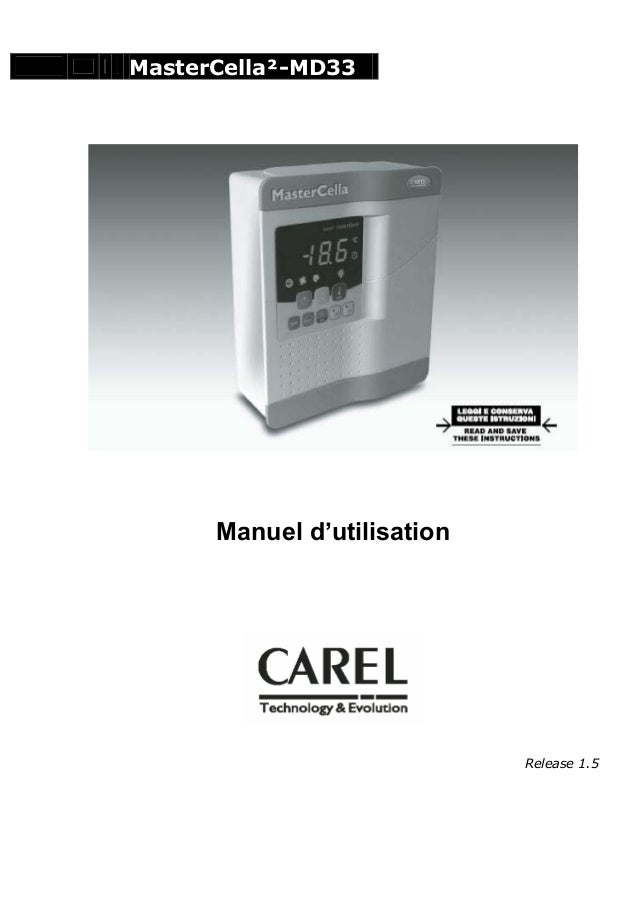 MasterCella²-MD33  Manuel d'utilisation  Release 1.5