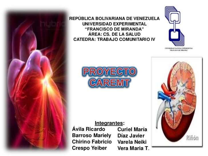 "REPÚBLICA BOLIVARIANA DE VENEZUELA     UNIVERSIDAD EXPERIMENTAL      ""FRANCISCO DE MIRANDA""        ÁREA: CS. DE LA SALUD  ..."