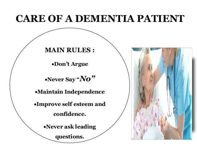 Care Of Patients With Dementia