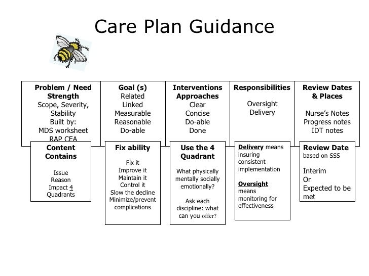 Care planning for Dementia care plan template