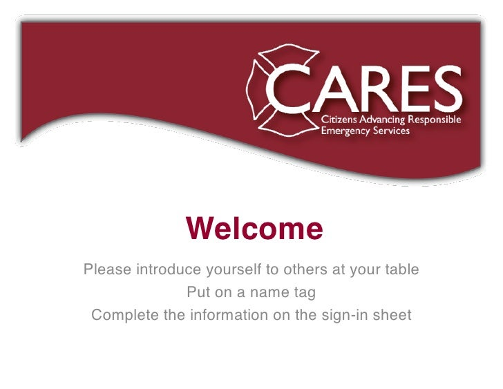 CARES Equipment Presentation