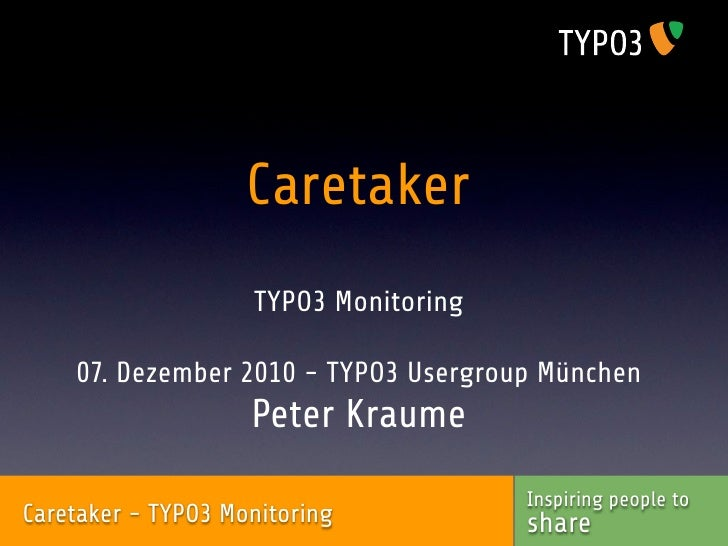 Caretaker TYPO3 Monitoring