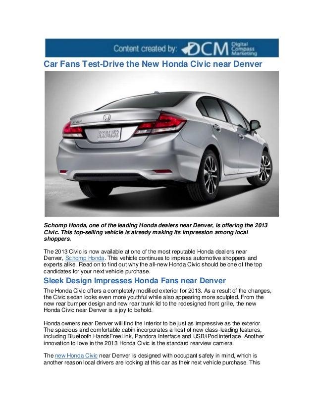 Car fans test drive the new honda civic near denver for Honda dealers denver