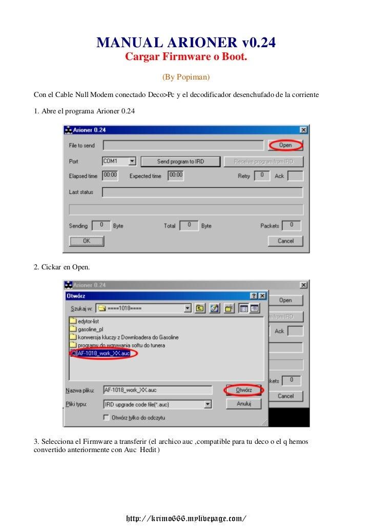 MANUAL ARIONER v0.24                              Cargar Firmware o Boot.                                           (By Po...