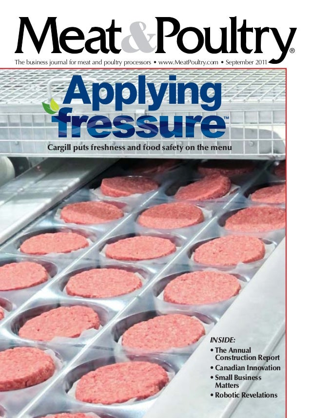 The business journal for meat and poultry processors • www.MeatPoultry.com • September 2011                 Applying      ...