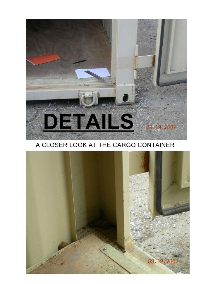 Cargo container details