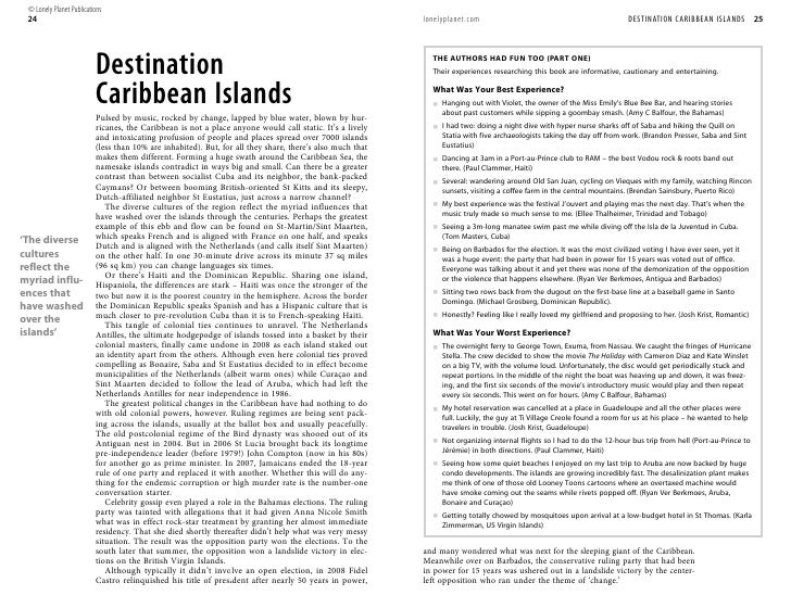 Caribbean Is 5 Getting Started