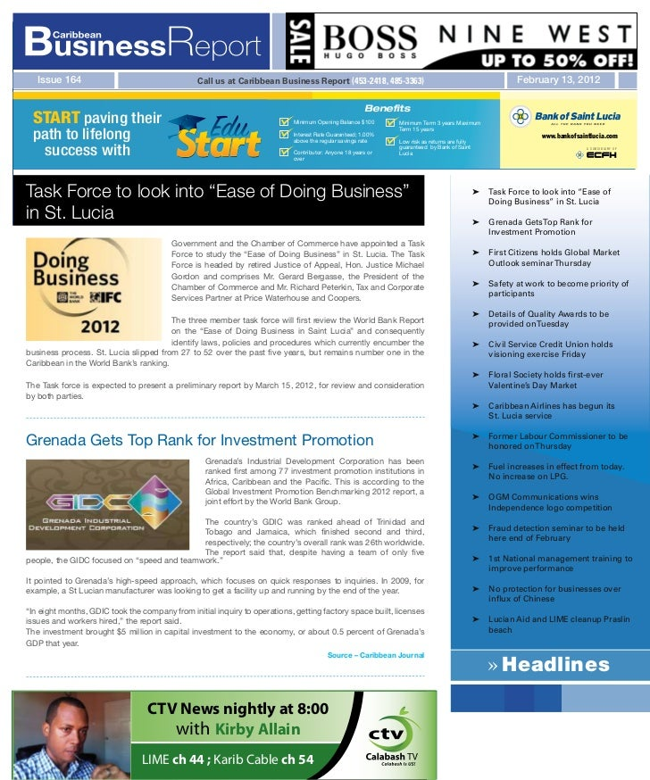 Issue 164                                    Call us at Caribbean Business Report (453-2418, 485-3363)                    ...