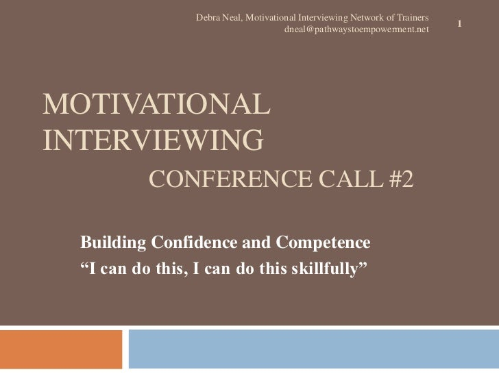 Debra Neal, Motivational Interviewing Network of Trainers                                                                 ...