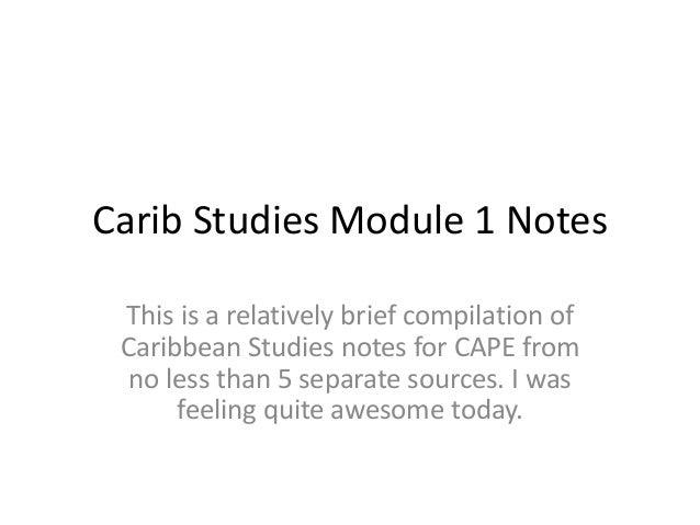 Caribstudiesmodule1notes