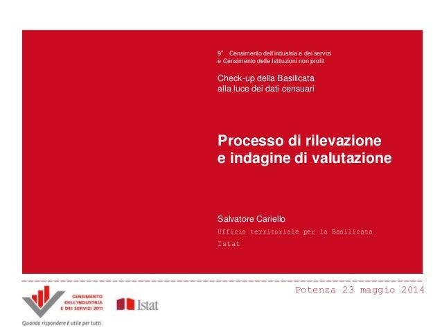 Potenza 23 maggio 2014 Principali innovazioni e risultati del Censimento Censimento dell'industria e dei servizi 2011 ANDR...