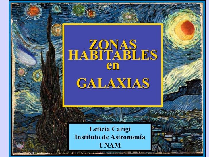 Zonas habitables en las galaxias