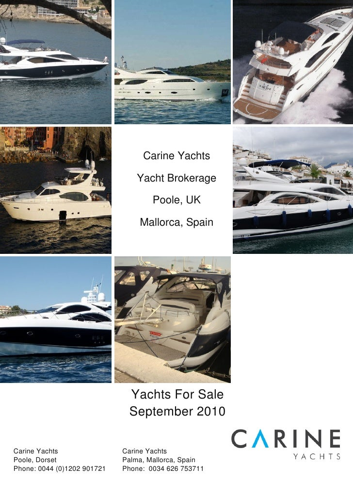 Carine yachts full catalogue generaged by our yachting solutions