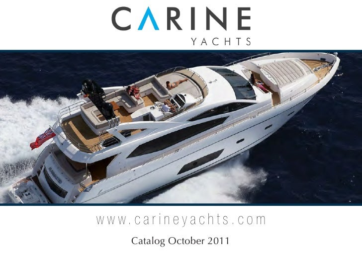 Carine Yachts - Sunseeker Yachts Brokerage - catalog October 2011