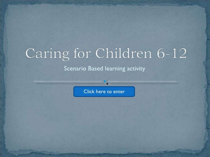 Scenario Based learning activity Click here to enter