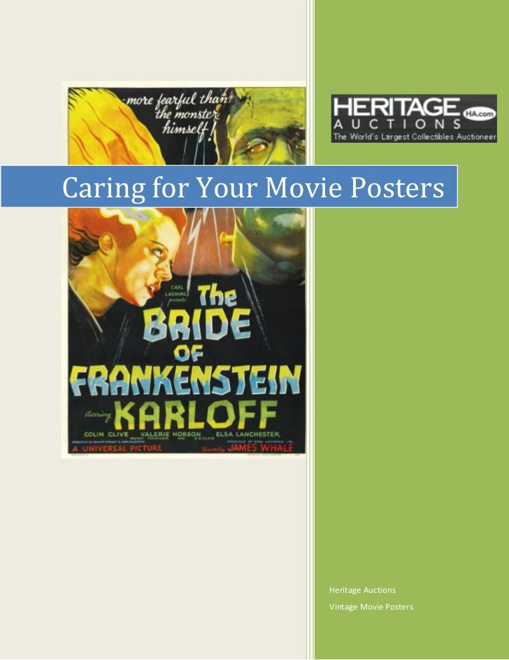 Caring for Your Movie Posters                    Heritage Auctions                    Vintage Movie Posters