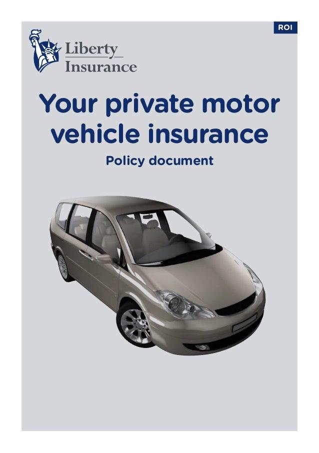 Liberty Car Insurance Policy Ireland
