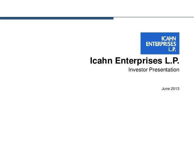 Presentación a Inversores de Carl Icahn