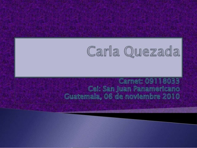 Carla quezada