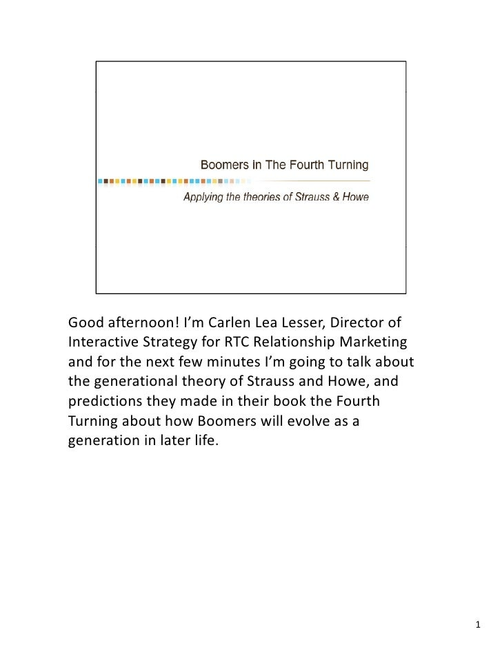 Boomers in the Fourth Turning - ePatient 2009 Presentation