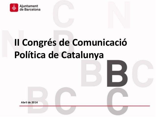 Presentació del Comissionat de Participació de l'Ajuntament de BCN, Carles Agustí