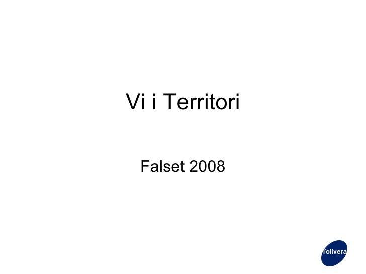 Vi i Territori Falset 2008