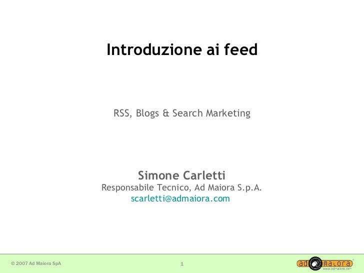 Introduzione ai feed