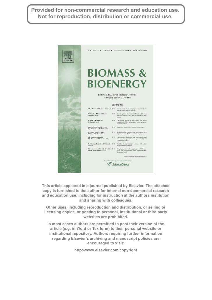 Biomass & Bioenergy Article