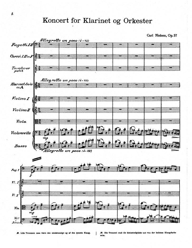 Carl nielsen   concerto pour clarinette op.57 (et orchestre)